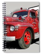 Out Of The Photo Fire Truck Spiral Notebook