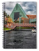 Out Running The Storm At The Dolphin Resort Spiral Notebook