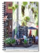 Outdoor Cafe Philadelphia Pa Spiral Notebook