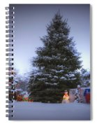 Outdoor Christmas Tree Spiral Notebook