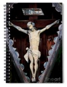Outdoor Display Of The Crucifixion Of Christ Spiral Notebook