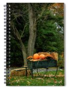 Outdoor Fall Halloween Decorations Spiral Notebook