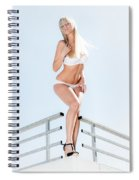 Outdoor Lingerie Portrait Spiral Notebook