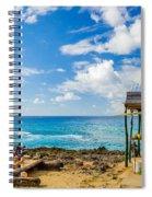 Outdoor Tropical Bar And Souvenirs Spiral Notebook