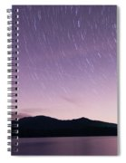 Outer Space Over Lake Santeetlah In Great Smoky Mountains In Sum Spiral Notebook