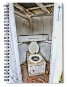 Outhouse A Look Inside Spiral Notebook
