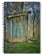 Outhouse In Spring Spiral Notebook