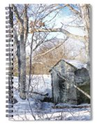 Outhouse In Winter Spiral Notebook