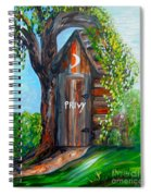 Outhouse - Privy - The Old Out House Spiral Notebook