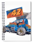 Dirt Track Racing Outlaw 42 Spiral Notebook