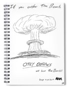 Outlaw The Bomb Spiral Notebook