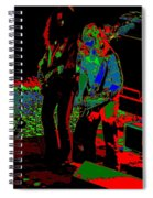 Outlaws #18 Art Psychedelic Spiral Notebook