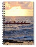 Outrigger Canoe At Sunset In Kailua Kona Spiral Notebook