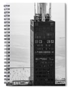 Outside Looking In - Willis Tower Chicago Spiral Notebook