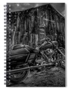 Outside The Barn Bw Spiral Notebook