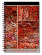 Outside The Box - Abstract Art Spiral Notebook