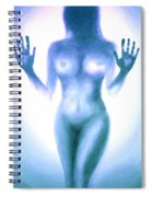 Outsider Series - Trapped Behind The Glass - In Blue Spiral Notebook