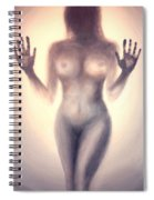 Outsider Series - Trapped Behind The Glass - In Sepia Spiral Notebook