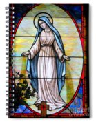 Oval Mary Spiral Notebook