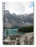 Moraine Lake Lookout - Lake Louise, Alberta Spiral Notebook