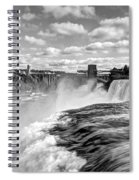 Over The Edge 1 Bw Spiral Notebook