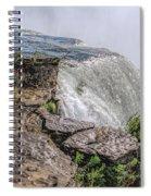 Over The Edge Niagara Falls Spiral Notebook