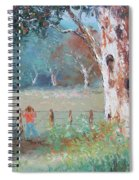 Over The Fence By Jan Matson Spiral Notebook