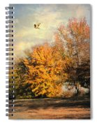 Over The Golden Tree Spiral Notebook