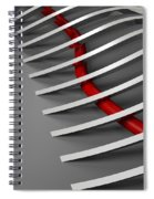 Over The Line Spiral Notebook