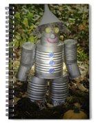 Over The Rainbow Garden Tin Man Spiral Notebook