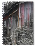 Overgrown Shed B/w Spiral Notebook