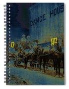 Overland Stage Raiders Homage 1938 Stagecoach 1894 Photo Spiral Notebook