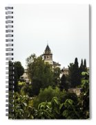 Overlooking The Alhambra On A Rainy Day - Granada - Spain Spiral Notebook
