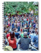 Overlooking The Asheville Drum Circle Spiral Notebook