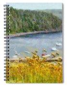 Overlooking The Harbor Spiral Notebook