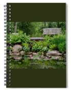 Overlooking The Lily Pond Spiral Notebook