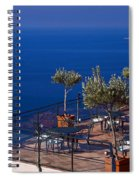 Overlooking Tyrrhenian Sea Spiral Notebook