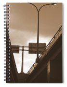 Overpass In Sepia Spiral Notebook