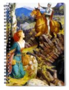 Overthrowing Of The Rusty Knight  Spiral Notebook