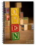 Owen - Alphabet Blocks Spiral Notebook