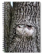 Owl Face Spiral Notebook