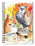Owl Family In Velez Rubio Spiral Notebook