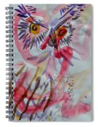Owl In The Fresh Air Spiral Notebook