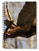 Owl Take Off Spiral Notebook