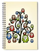Owl Tree Spiral Notebook