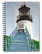 Owls Head Up To The Light Spiral Notebook