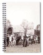 Ox-driven Wagon Freight Train C. 1887 Spiral Notebook