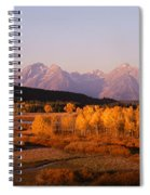 Oxbow Bend Grand Teton National Park Wy Spiral Notebook