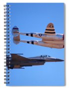 P-38 And Jet Spiral Notebook
