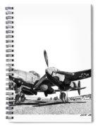 P 38 Lightning Spiral Notebook